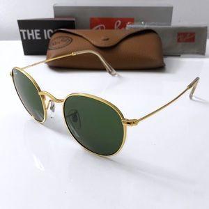 Green Round RayBan Sunglasses RB3447